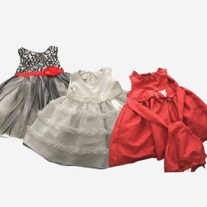 Baby Girl Lot of 3 Princess Dresses Size 18M